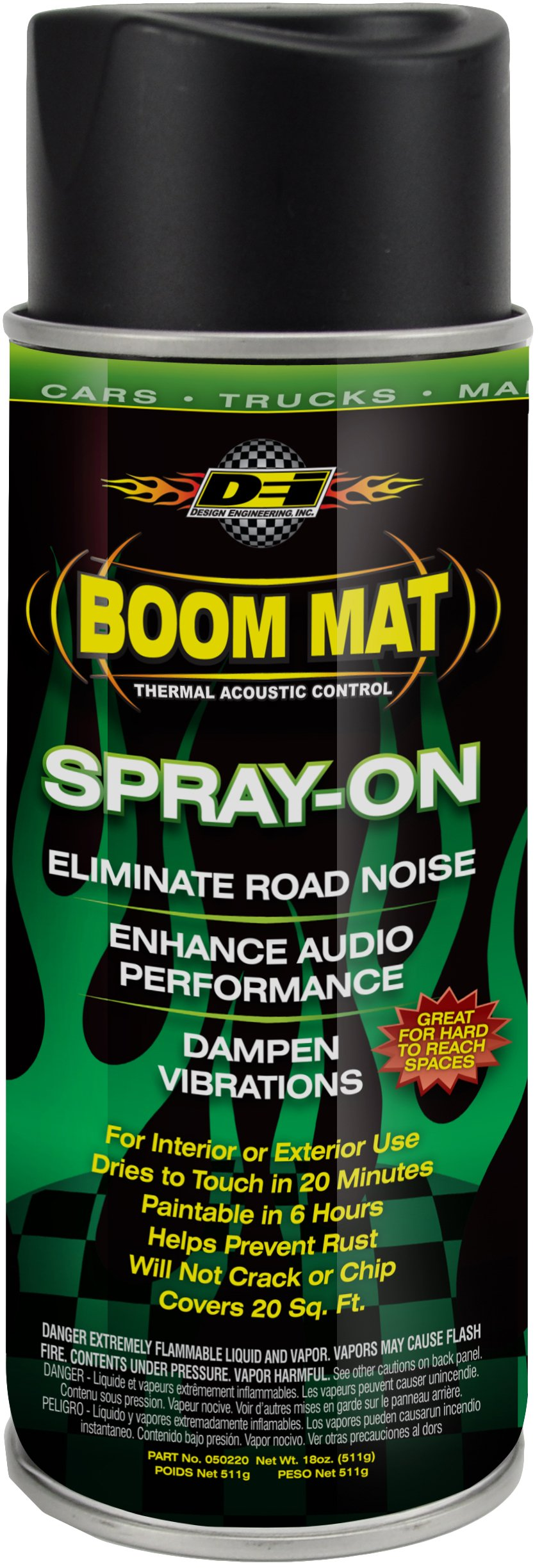 DEI 050220 Boom Mat Spray-on Sound Deadening to Reduce Unwanted Road Noise and Vibration