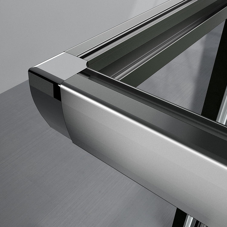 90x70x195 cm Cabine de douche Porte coulissante Paroi de douche acc/ès dangle verre s/écurit