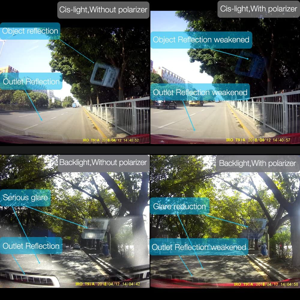 IRO Dashcam Automatic Video Recording Full HD 1080P WiFi H.265 G-Sensor WDR is Suitable T97 for Mercedes Benz GLA Class Car DVR