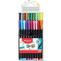 Caneta Fineliner, Maped, Graph Peps, 0.4mm, 20 Cores