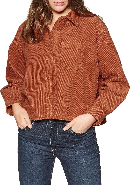 Element - Camiseta de Pana - Mujer - L - Naranja: Amazon.es ...