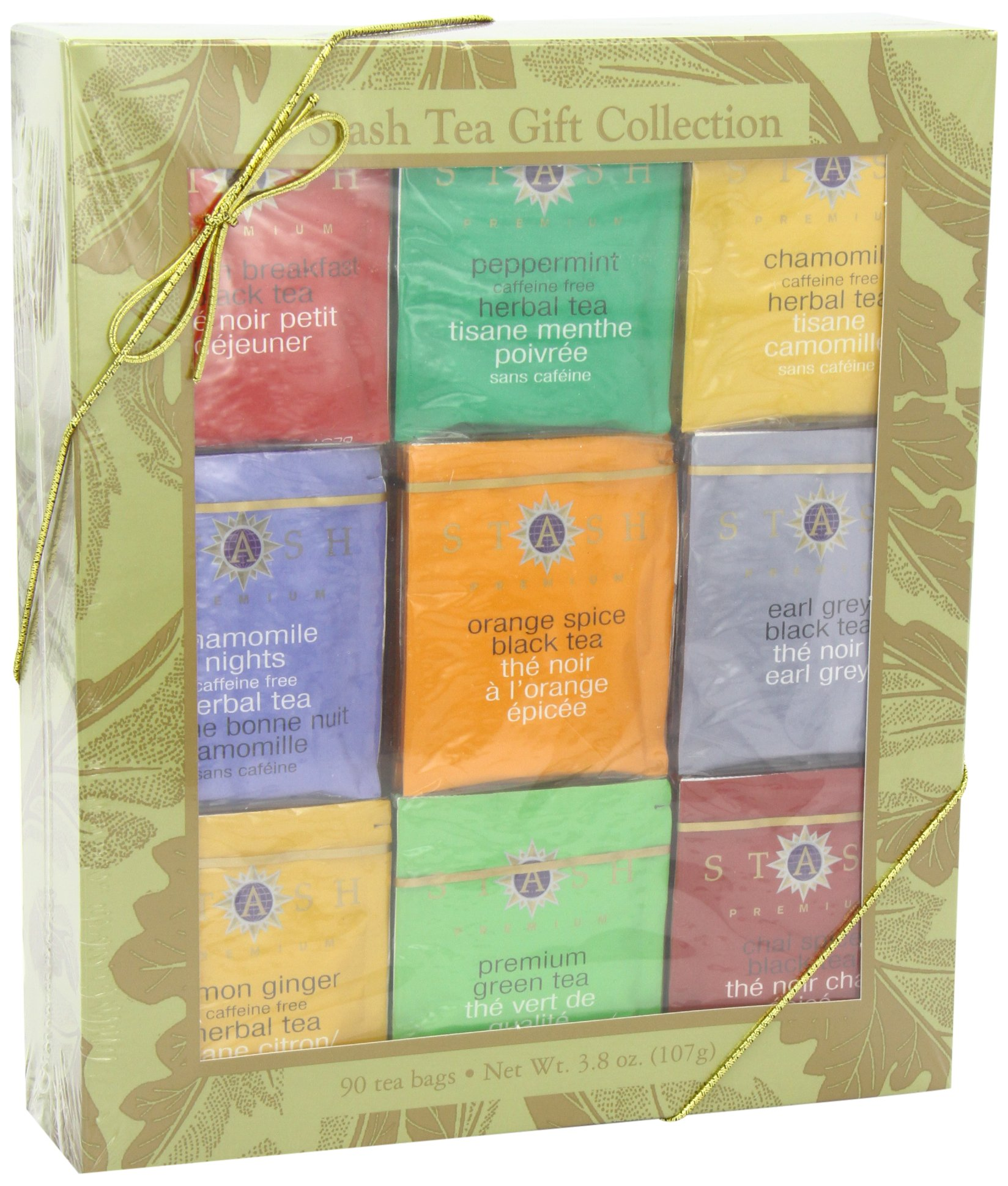 Stash Tea Gold Leaf Nine Flavor Gift Box by Stash Tea (Image #6)