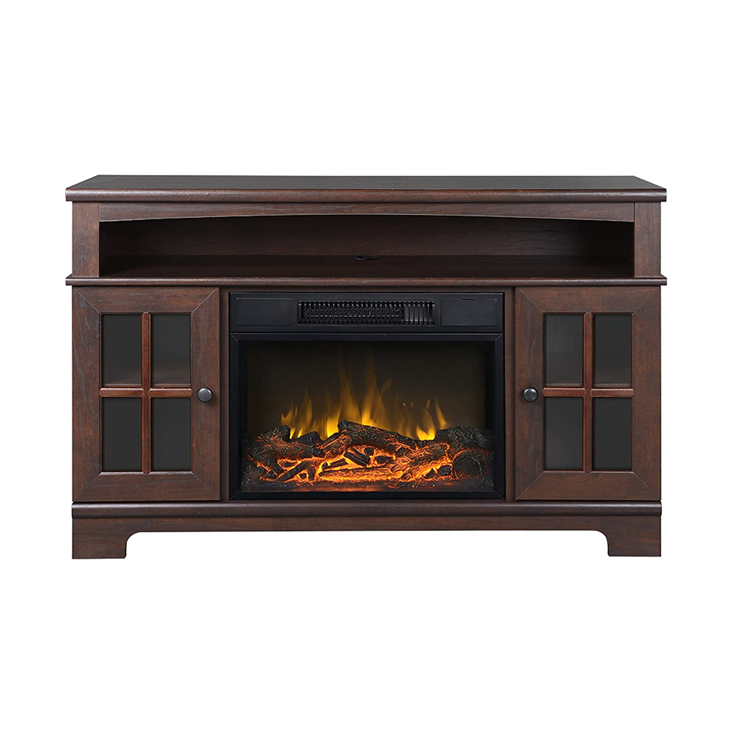 ip media fireplace dark weathered tv for s pine to com whalen walmart console up bbac
