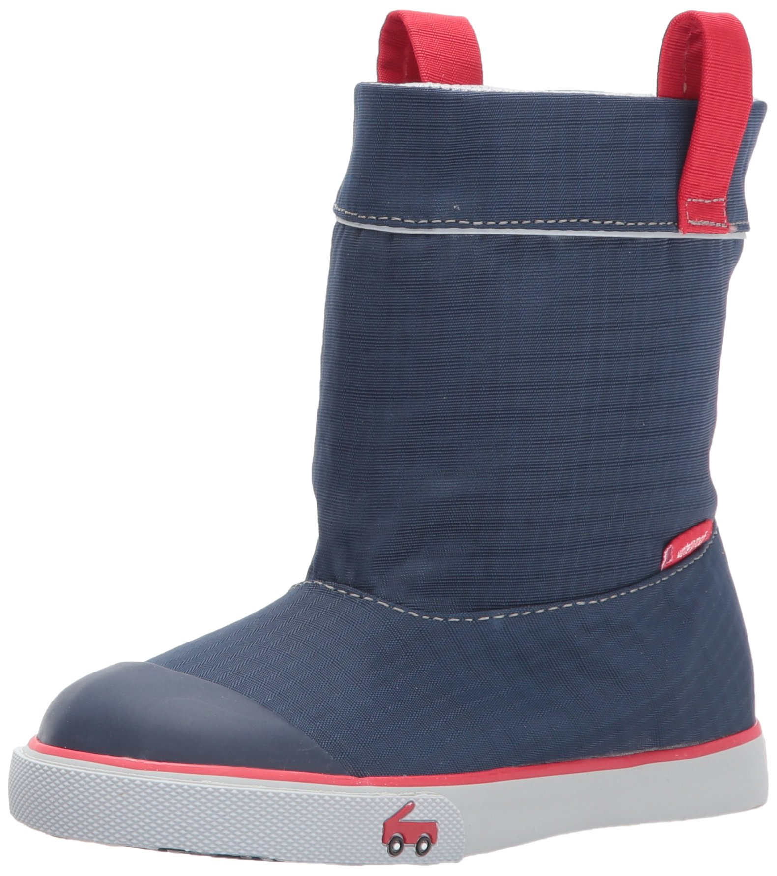 See Kai Run Boys' Montlake WP Rain Boot, Navy, 9 M Toddler