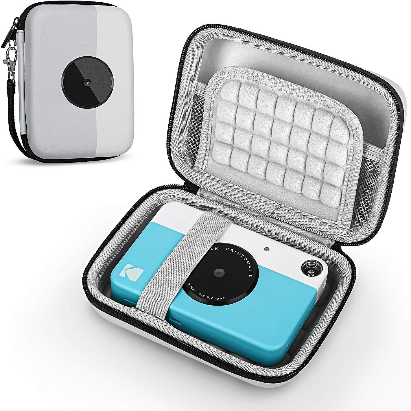 Fromsky Case for Kodak PRINTOMATIC/Smile Digital Instant Print Camera, Travel Carry Case Protective Cover (Grey)