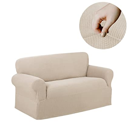 Amazon Com Maytex Reeves Stretch 1 Piece Loveseat Furniture Cover