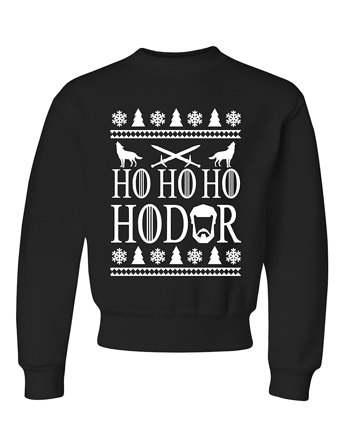 Ho Ho Ho HODOR Ugly Christmas Sweater Kids Sweatshirts
