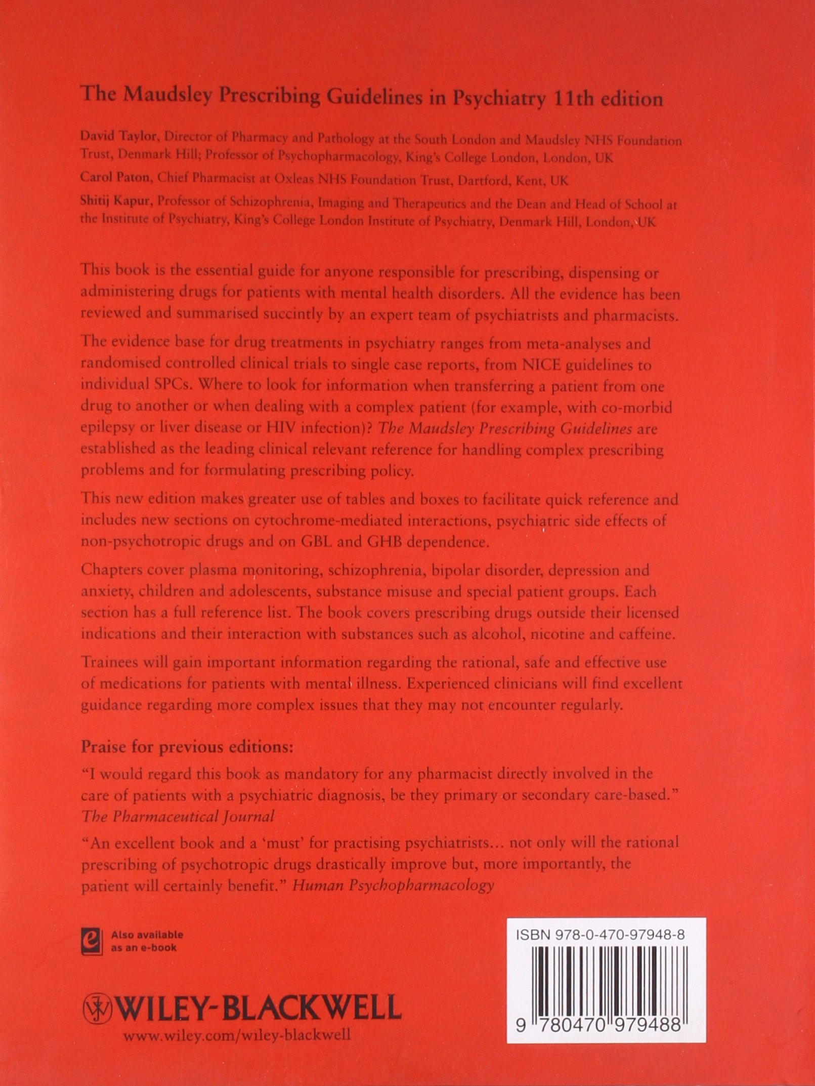 the maudsley prescribing guidelines in psychiatry amazon co uk rh amazon co uk