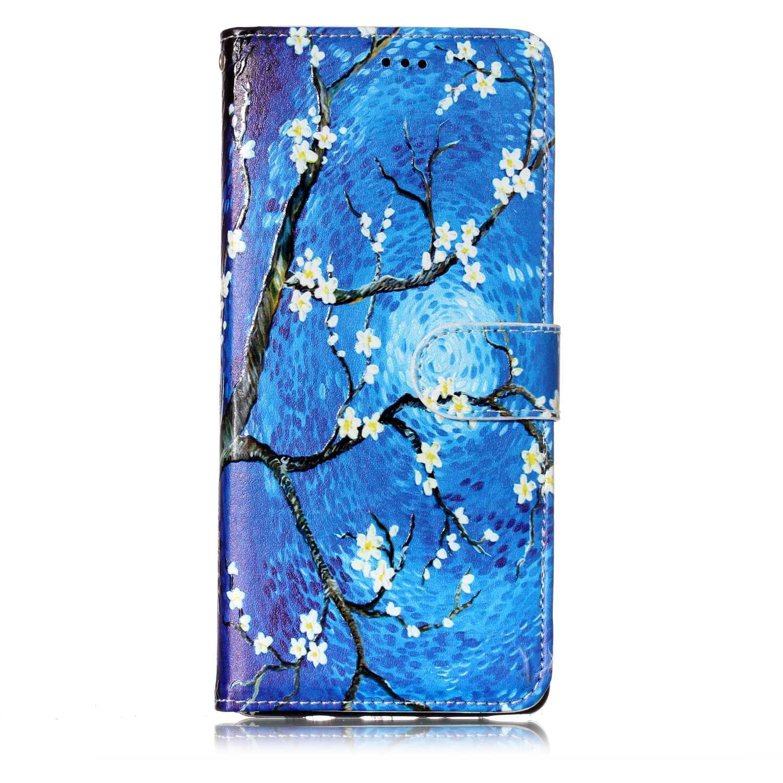 Coque Samsung Galaxy Note 8, Lomogo Housse en Cuir Portefeuille avec Porte Carte Fermeture par Rabat Aimanté Anti Choc Etui de Protection pour Samsung Galaxy Note8 - YIHU25620 #2
