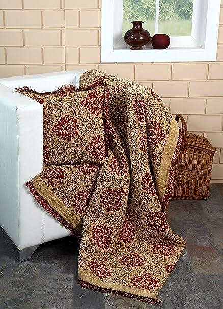 EHC Manta Jacquard para sillón 125 x 150 cm: Amazon.es: Hogar