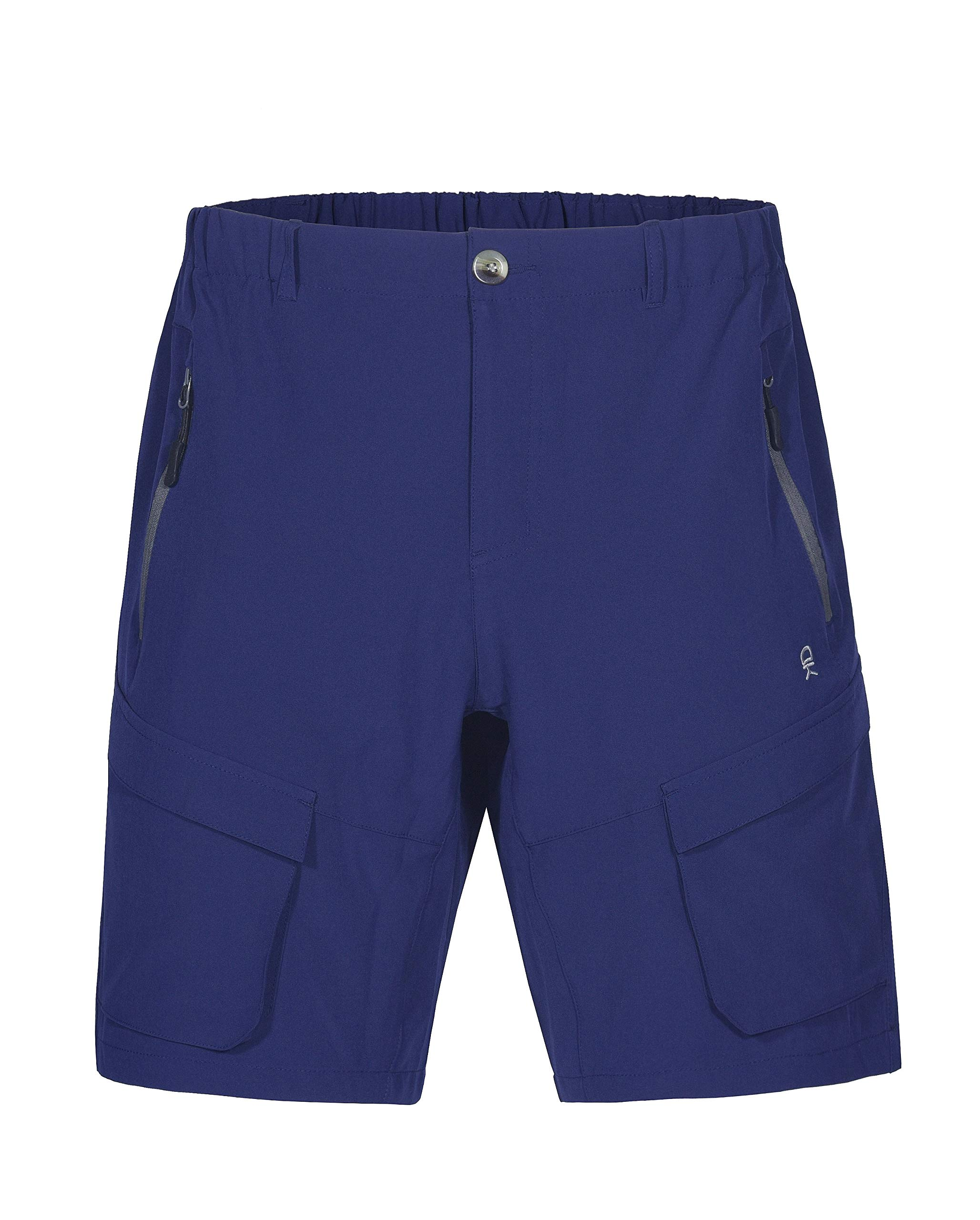 Little Donkey Andy Men's Stretch Quick Dry Cargo Shorts for Hiking, Camping, Travel Navy Size S by Little Donkey Andy
