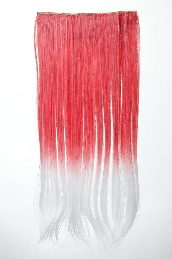 Wig Me Up – YZF de 3179p Extension pelo garantía de clip en 5 clips de ancho lisa Ombre bicolor 60 cm de largo