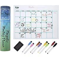 Planificador mensual magnético para nevera, calendario de pizarra blanca A3, organizador familiar perfecto con 8…