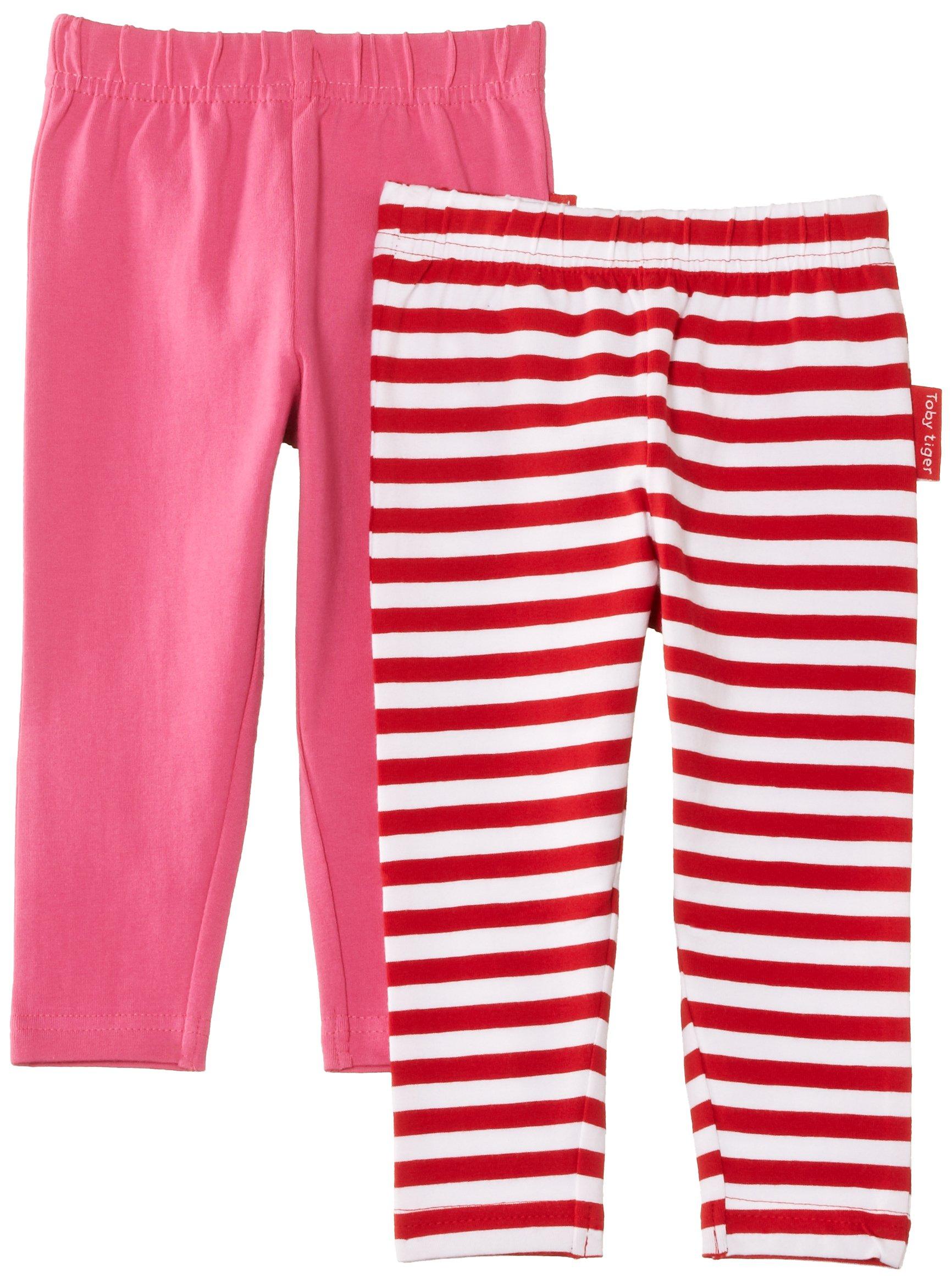 Toby Tiger Pink Leggings 2 Pack (4-5 Years)