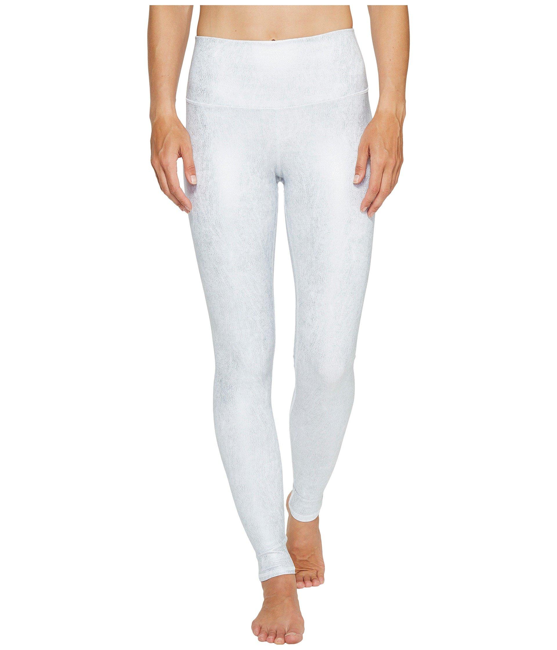 Alo Yoga Women's High Waist Airbrush Legging, Slate Metallic/White XX-Small