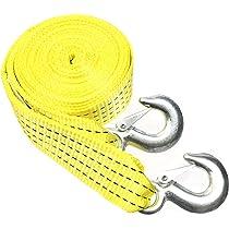 Tow Strap with Hooks Yellow 2 x 20 Presa 21079 Heavy Duty 10000 lb