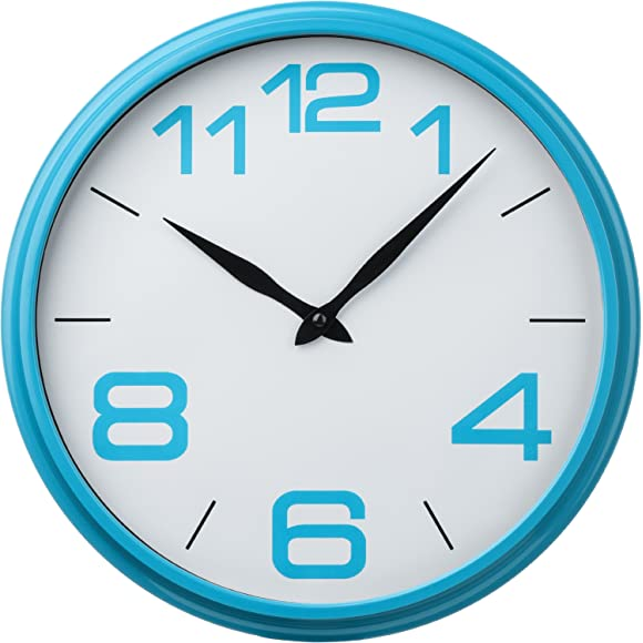Premier Housewares Blue Kitchen Wall Clock