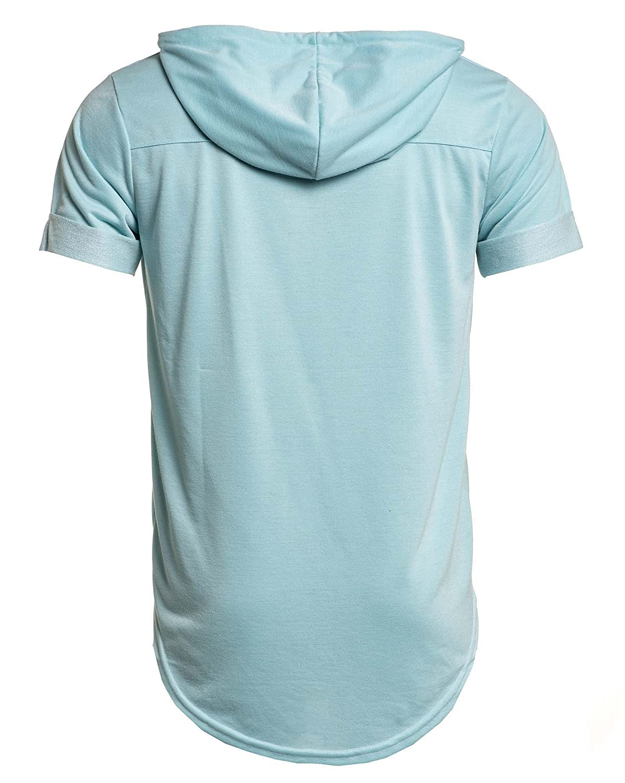Celebry tees - Shirt turquoise woven hooded man