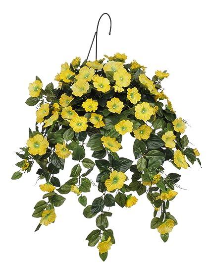 Amazon House Of Silk Flowers Artificial Yellow Petunia Hanging