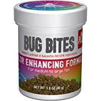 Fluval Bug Bites visvoer, met insectenlarve, kleurversterkende voering, langzaam zinkend granulaat, 1,4-2 mm, 45 g