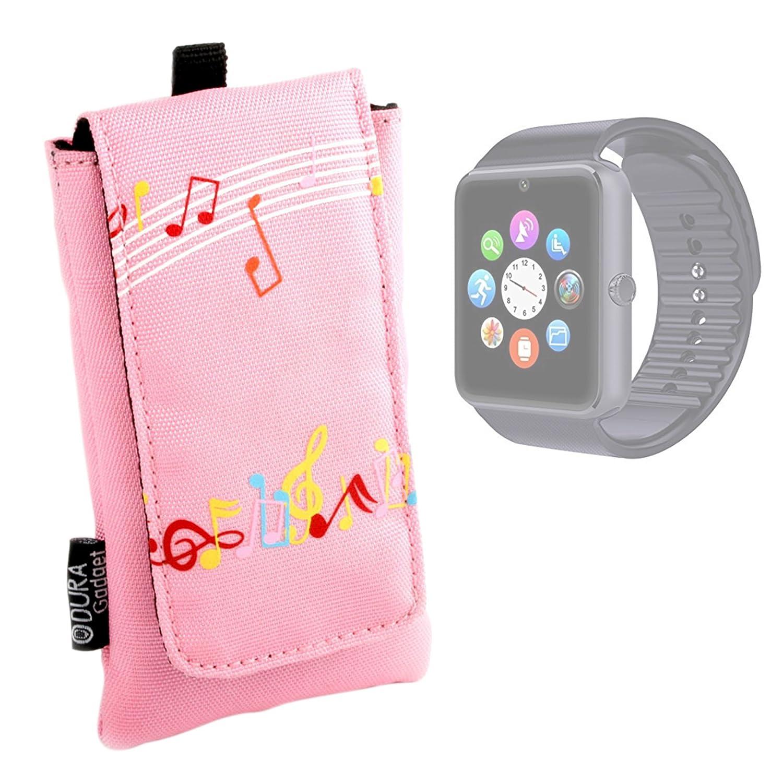 DURAGADGET Funda Acolchada Rosa para Smartwatch Mobiper G08 ...