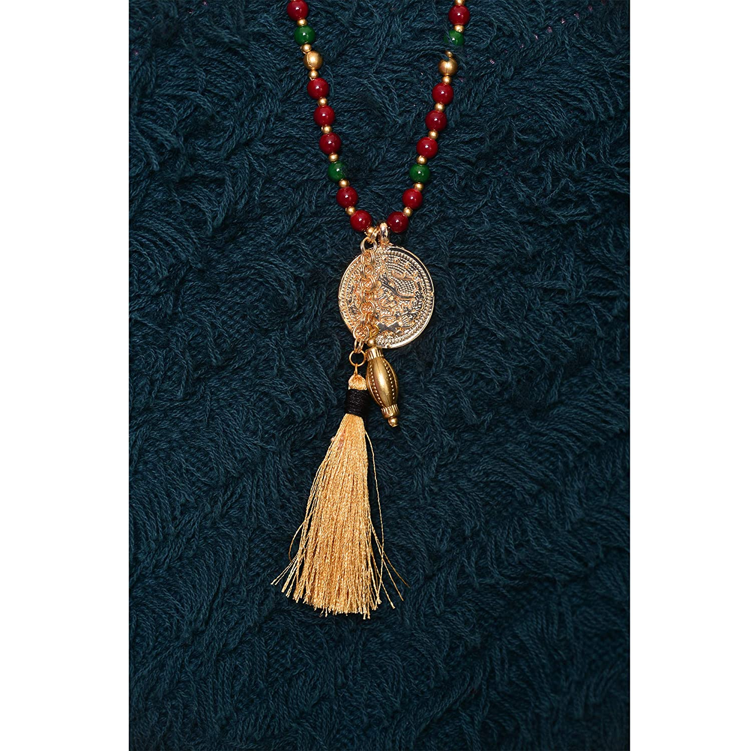 Handmade VQ Concept Ethnic Mala İndian Necklace for Women Girls Gift
