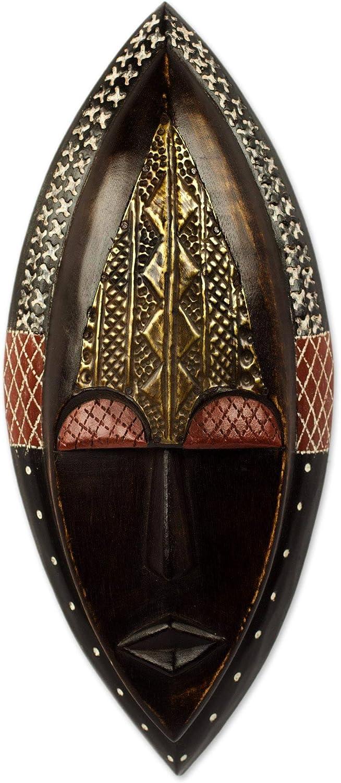 NOVICA Decorative Wood Mask, Brown