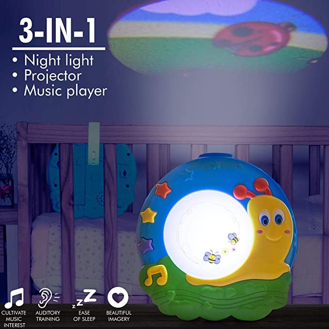 Amazon.com: Proyector de luz nocturna para bebé con música ...