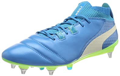 Puma Herren One 17.4 FG Fußballschuhe, Blau (Atomic Blue-White-Safety Yellow), 42 EU