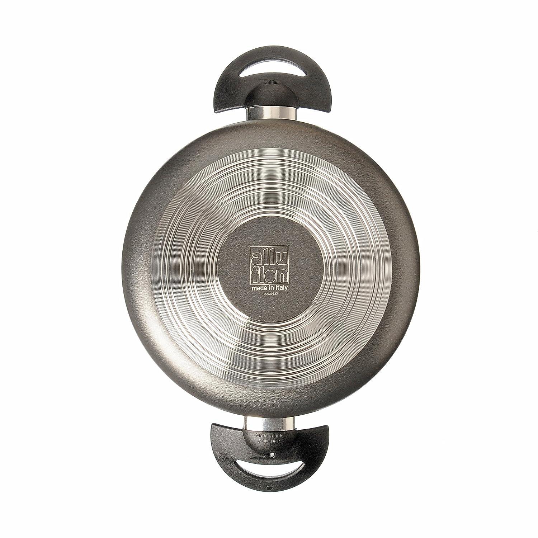 ALLUFLON Tradizione Italia Olla, Aluminio, Negro, 22 cm: Amazon.es: Hogar