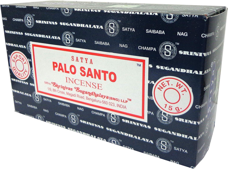 Palo Santo - Varitas de incienso (3 cajas, 15 unidades por caja)