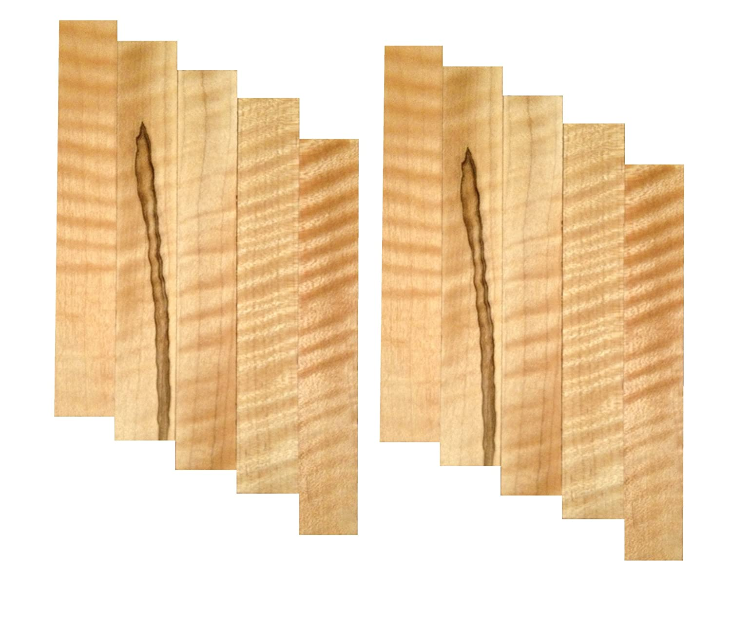 Curly Soft Maple Pen Blank 10 Pack