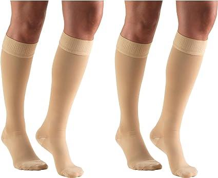 2 Count Beige Truform 20-30 mmHg Compression Pantyhose Medium