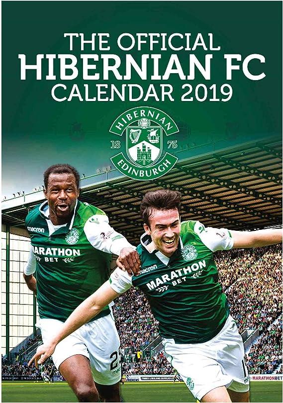 /& Scarf Set A3 Official Hibernian FC 2020 Football Calendar