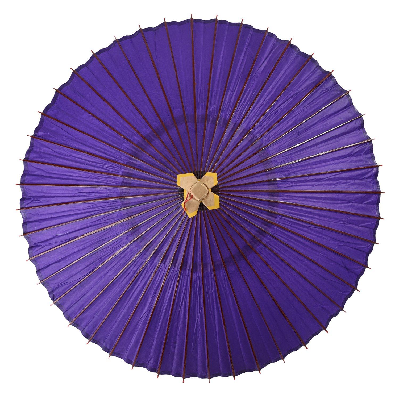 よさこい 蛇の目傘 和傘 上B 装飾用 プラ巻き 全2色 長傘 手開き 青 44本骨 舞踏傘 踊り傘 B01DF3UQG6 青 青