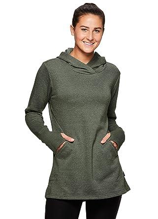 3c044ac8c88 RBX Active Women s Long Sleeve Casual Fleece Hoodie Sweatshirt Fleece Fern  Heather S