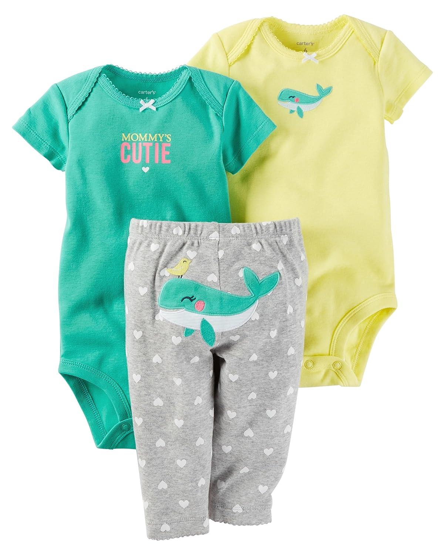 カーターの赤ちゃんの女の子3 Piece Little文字セット( Whale ) 24 Months  B0724YYT1X