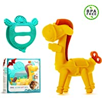 Ange Baby Gift Set Teether Carrier & Baby Horse Teething toy 100% Safe & BPA-Free