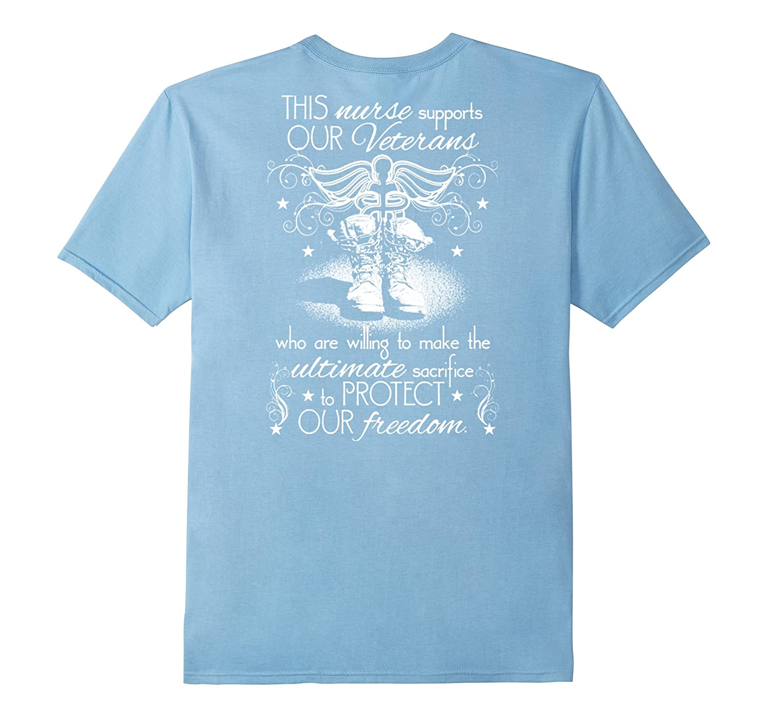 This Nurse Supports Our Veterans T Shirt-RT