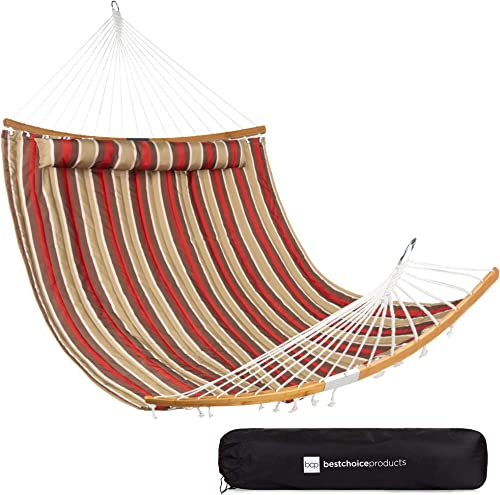 Best Choice Products 2-Person Portable Quilted Curved Hammock
