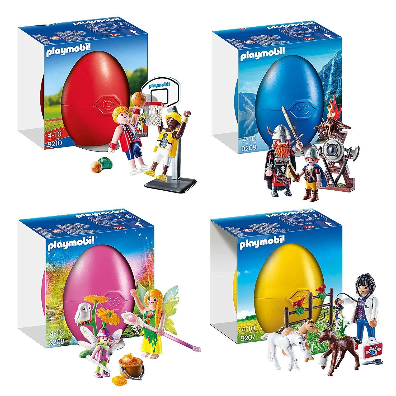 PLAYMOBIL® 4 pcs. Set 9210 9209 9208 9207 basketball-duel + Viking + ...