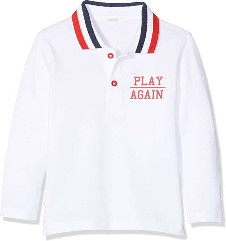 United Colors of Benetton L/s Polo Shirt, Blanco (Bianco 101 ...