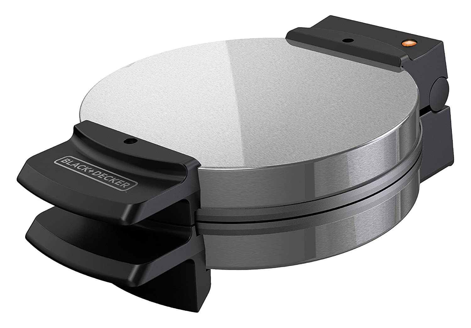 BLACK+DECKER WMB505 Belgian Waffle Maker, Stainless Steel, Pack of 1 Silver