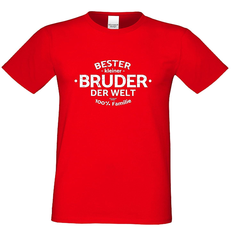 Bester kleiner Bruder der Welt : Geschenk-Set Herren T-Shirt plus ...
