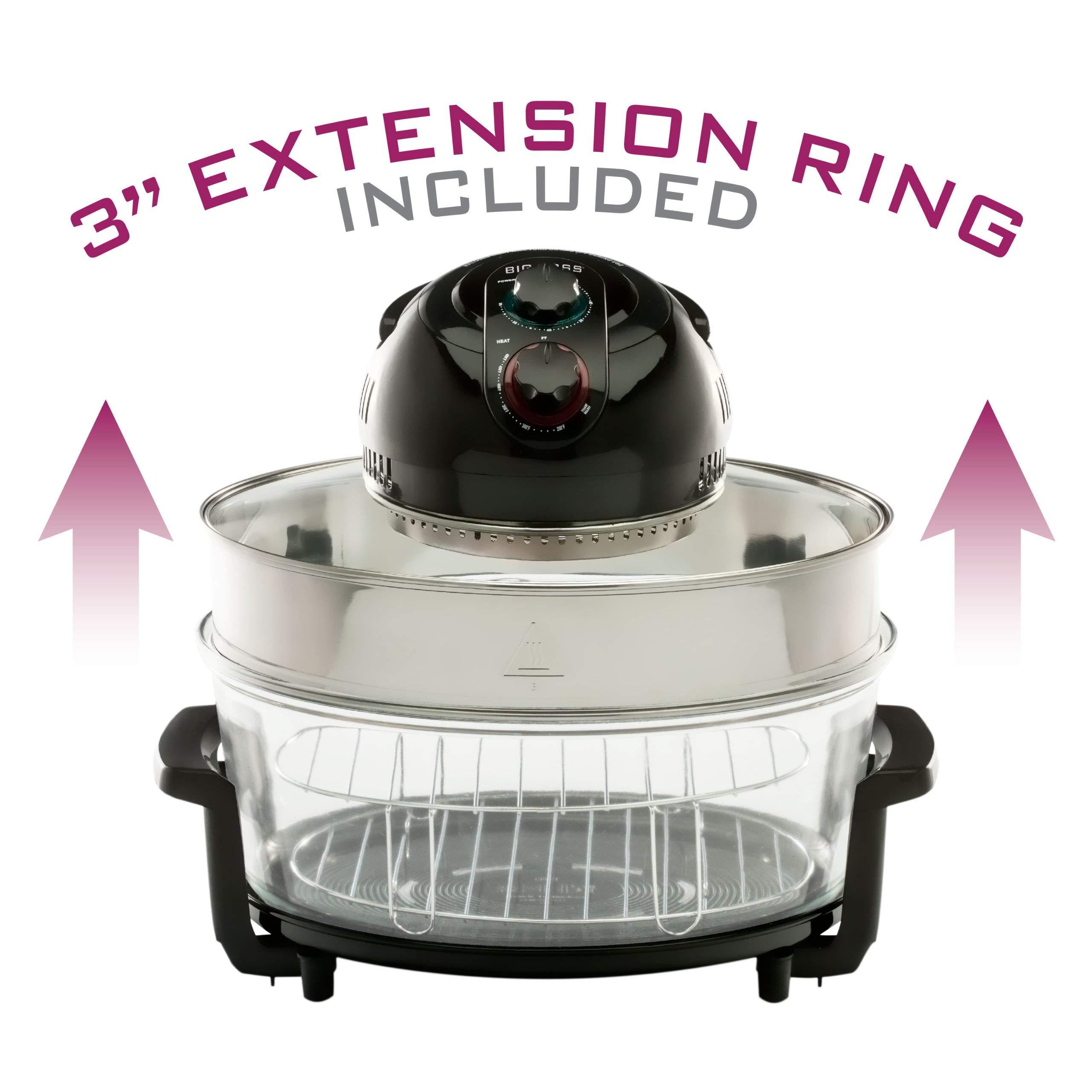 Big Boss 8861 1300 Watt Oval Rapid Wave Oven and Turkey Roaster, Black, 17.5 Quart