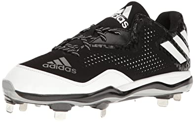 adidas Originals Men's Freak X Carbon Mid Baseball Shoe,  Black/White/Metallic/