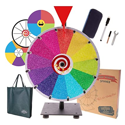 Amazoncom Prize Wheel Spinning Wheel For Prizes Dry Erase Spin