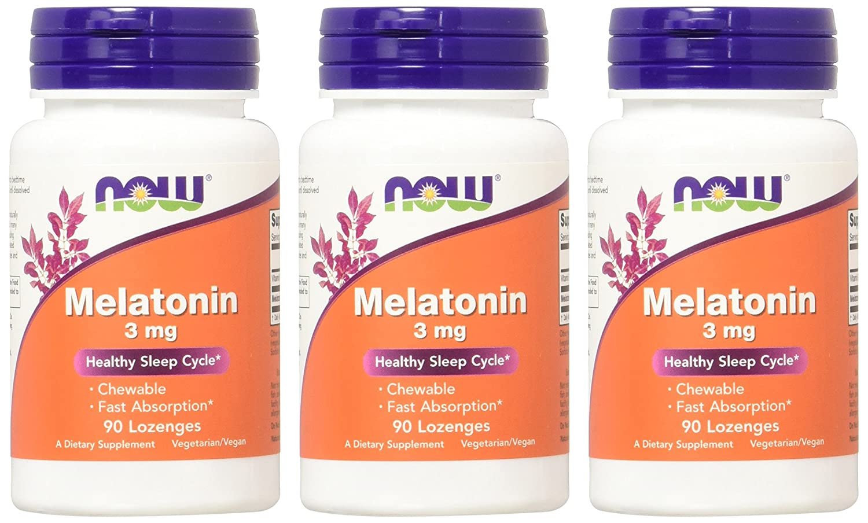 Amazon.com: NOW Melatonin 3mg , 90 Lozenges (Pack of 3): Health & Personal Care