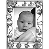 Malden International Designs Nursery Parade Baby Metal Picture Frame