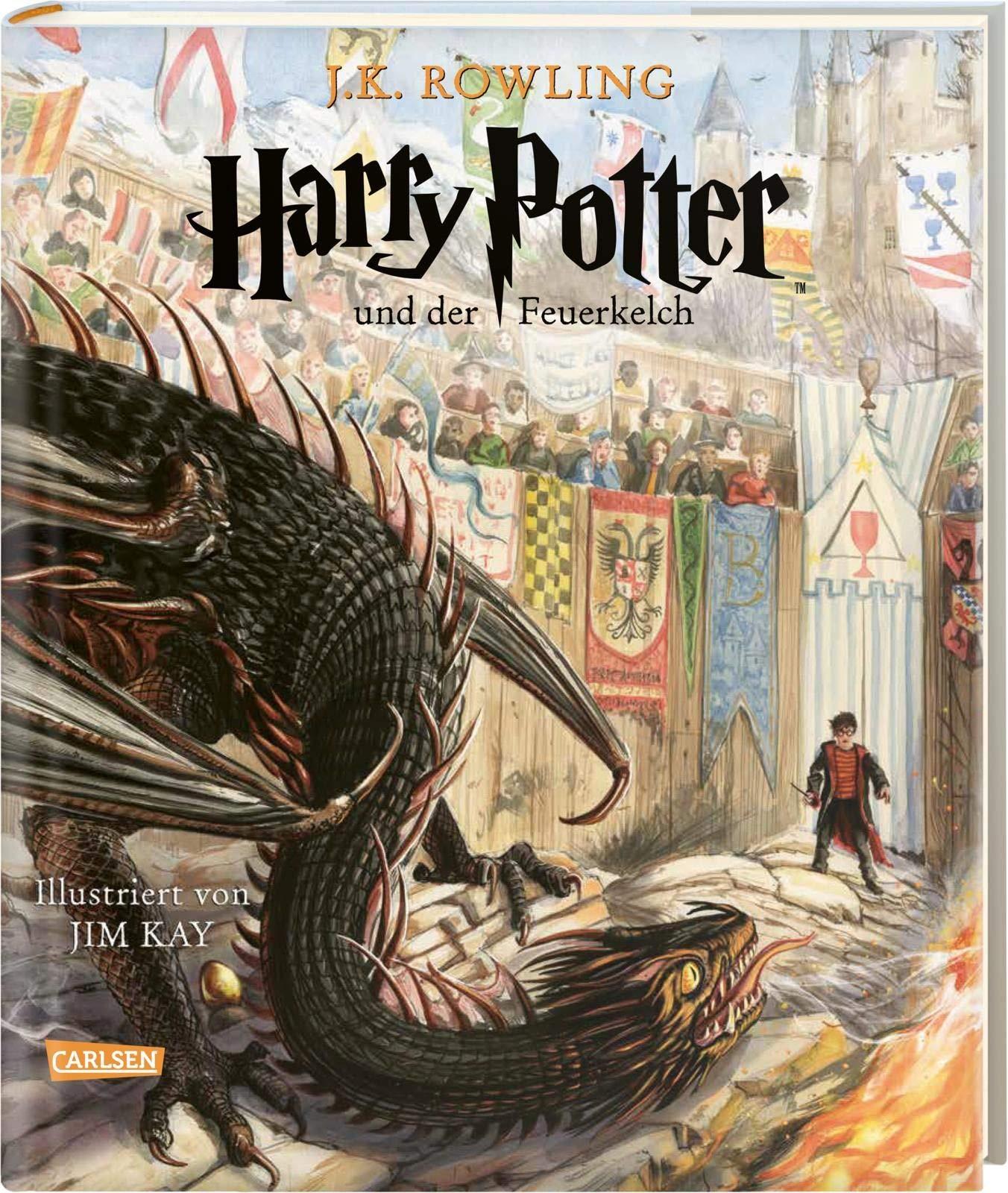 Harry Potter Und Der Feuerkelch Farbig Illustrierte Schmuckausgabe Harry Potter 4 Rowling J K 9783551559043 Amazon Com Books